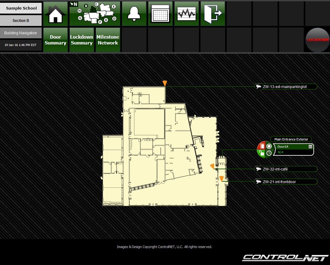 Security floor plan