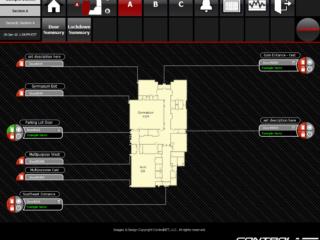 Security floor plan