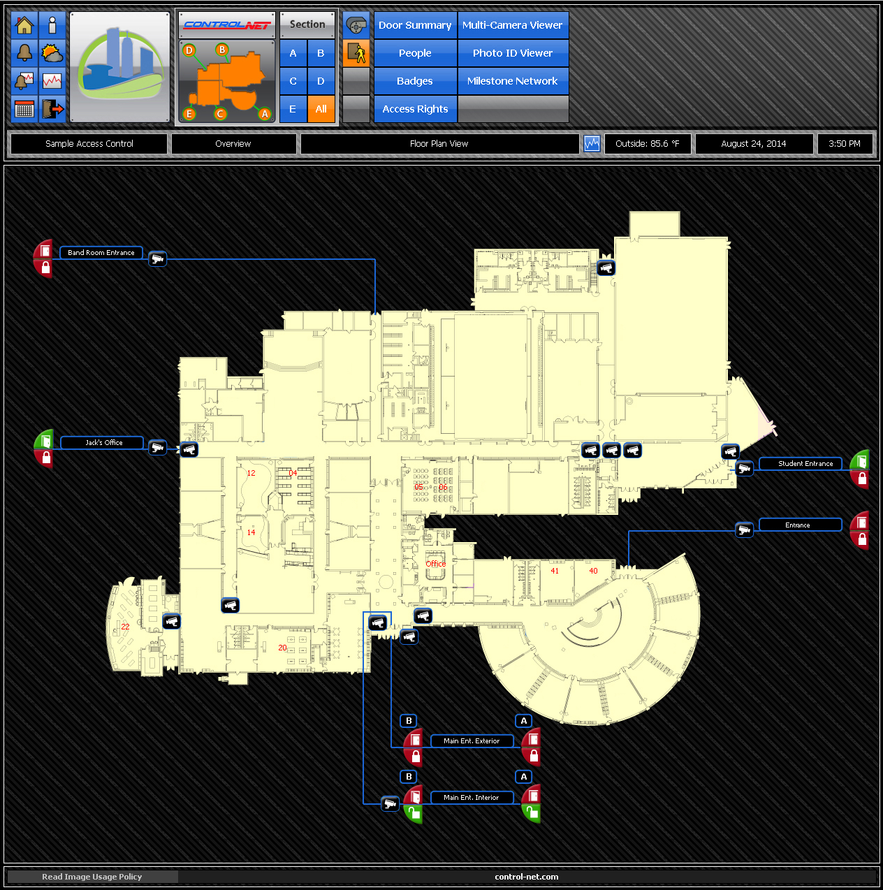 Access Control Floor Plan Graphic