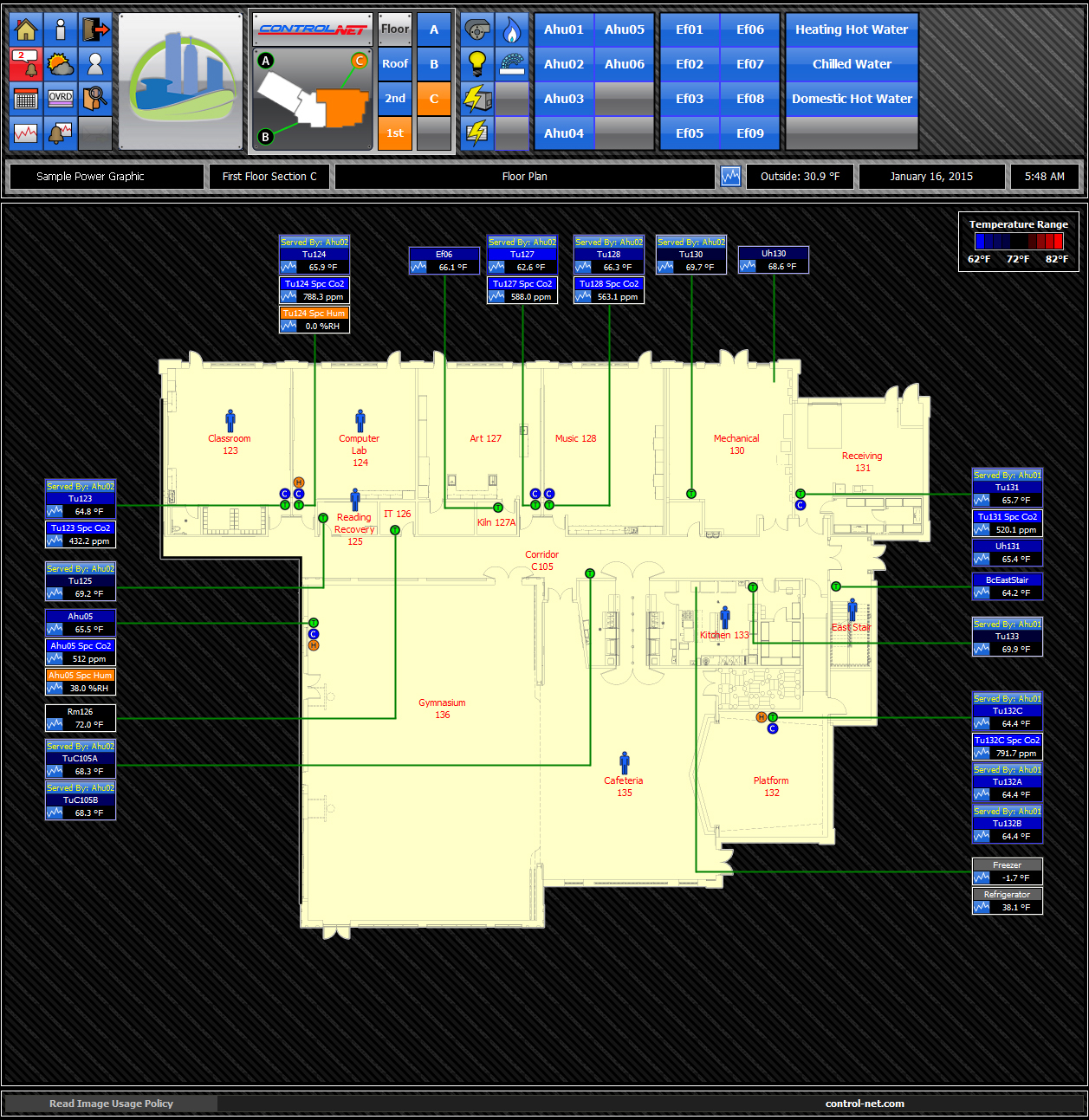 HVAC Floor Plan Graphic