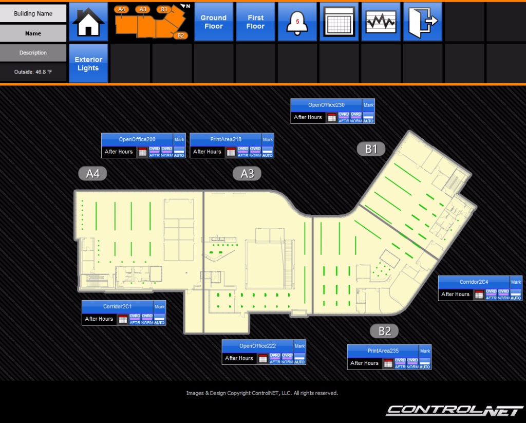 lighting integration floor plan