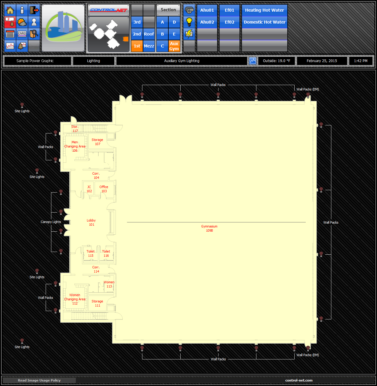 Lighting Floor Plan Graphic