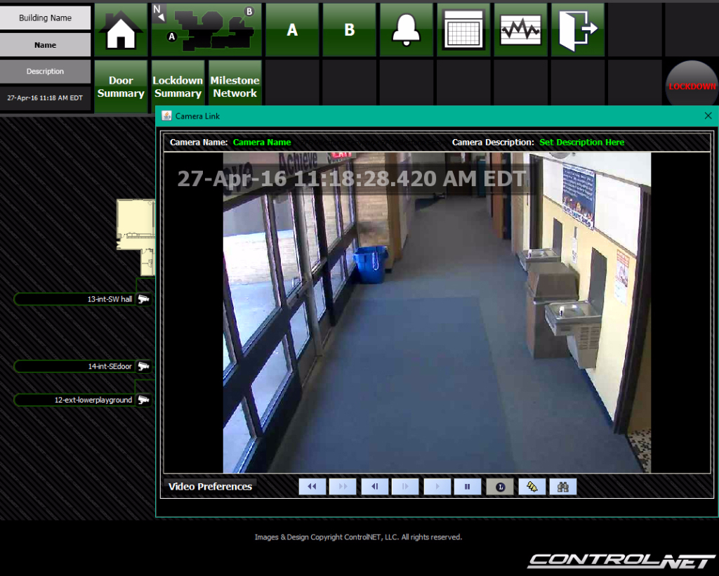 security camera integration