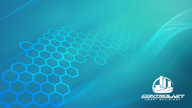 ControlNET Wallpaper with teal background and cyan graphic elements